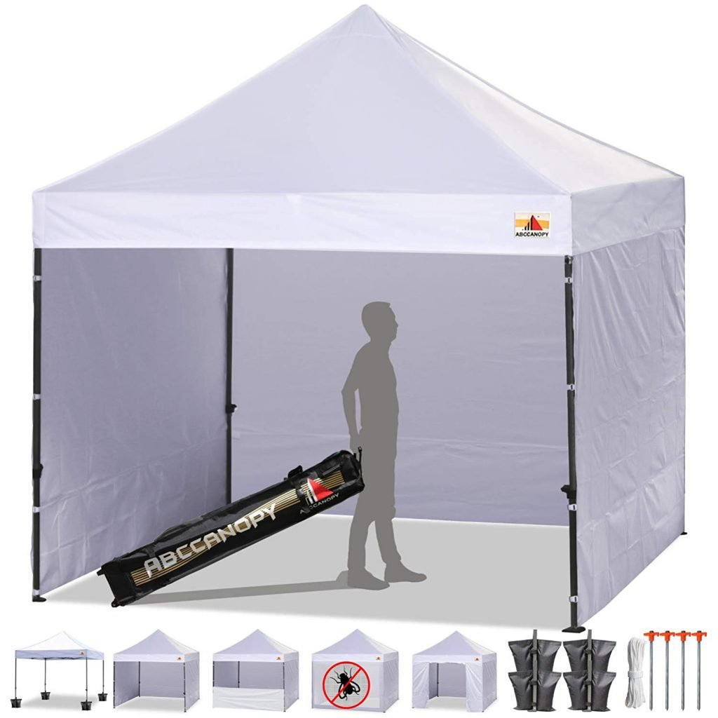 ABCCANOPY Pop Up Canopy With Removable Sidewalls